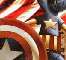 'Fuzzy & Red, White & Blue' (Grover / Captain America) Sticker
