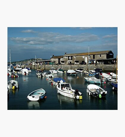 Lyme Harbour Early  Evening Photographic Print
