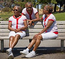 woman in multiplicity photography X3 by happyphotos