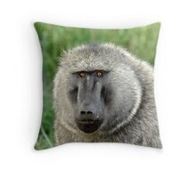 Uganda - Olive Baboon Throw Pillow