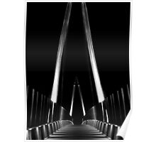 Foot Suspension Bridge - B&W Poster