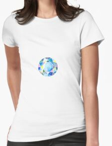 Blue diamond Womens Fitted T-Shirt