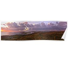 Panorama - sky Road - wide Poster