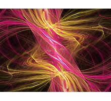 Flamingo Abstract Flame Fractal Photographic Print