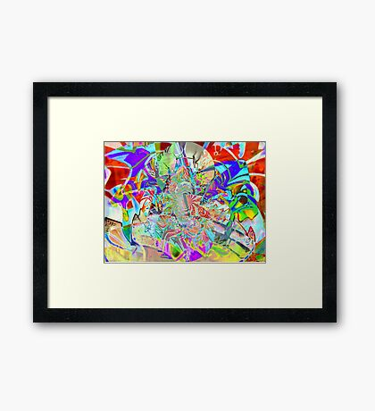 Psychedelic Graffiti Framed Print