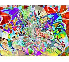 Psychedelic Graffiti Photographic Print