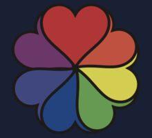 Rainbow Heart Flower Kids Tee