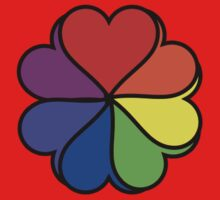 Rainbow Heart Flower Kids Clothes