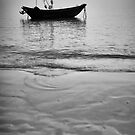 Working Boat Black and white by Rene Fuller