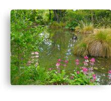 Pond, Flaxmere Garden, South Island, New Zealand.  Canvas Print