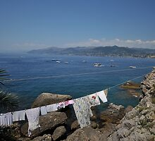 Shore Wash At Camogli by MarcW
