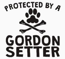 Protected By A Gordon Setter Kids Clothes