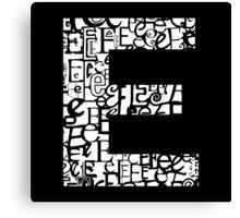 The Letter E Canvas Print