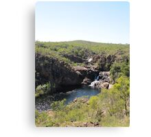At last we see the 2nd & 3rd falls from top of escarpment. Canvas Print