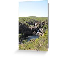 At last we see the 2nd & 3rd falls from top of escarpment. Greeting Card