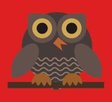 Sitting Grey Owl  Kids Tee