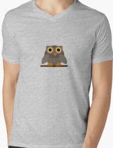 Sitting Grey Owl  Mens V-Neck T-Shirt
