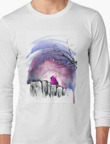 pink bird Long Sleeve T-Shirt