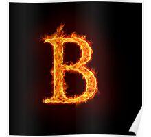 fire alphabet Poster