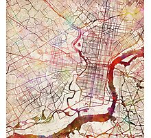Philadelphia map Photographic Print
