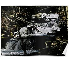 Wooded Waterfall Poster