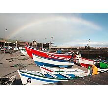 Rainbow at the harbour Photographic Print