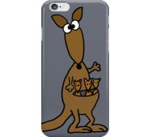 Funky Mother Kangaroo and Babies iPhone Case/Skin