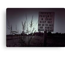 The Texas Chainsaw Massacre - Hewitt House #8 Canvas Print