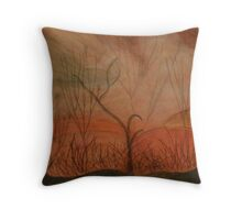 We're Never Here Alone Throw Pillow