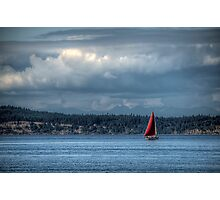 The Red Sail Photographic Print