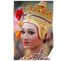 Traditional Thai woman Poster
