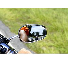 Rear View Rider Photographic Print