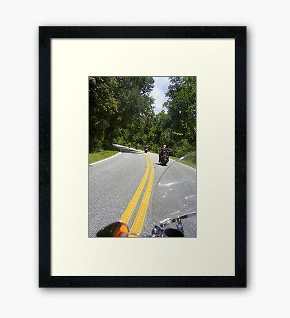 Just Ridin' Framed Print