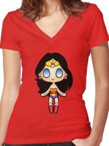 Wonder Plush Women's Fitted V-Neck T-Shirt