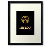 Duke Nukem - Lets Rock Framed Print