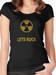Duke Nukem - Lets Rock Women's Fitted Scoop T-Shirt