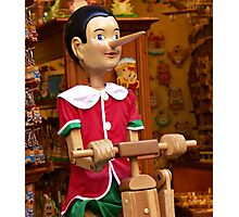Pinocchio in Florence shop Photographic Print