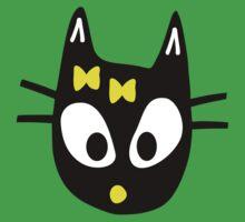 Black Cat One Piece - Short Sleeve