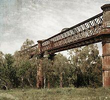 Laclan River Railway Bridge by garts