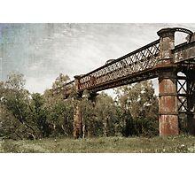 Laclan River Railway Bridge Photographic Print