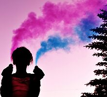 Polluting Beauty - Pink and Blue by TiffanieH