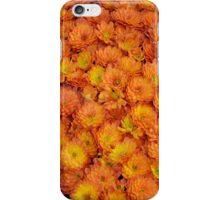 Orange chrysanthemum flowers iPhone Case/Skin