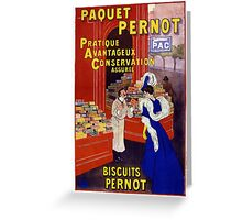 Paquet Pernot Vintage Advertising Poster Restored Greeting Card