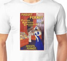 Paquet Pernot Vintage Advertising Poster Restored Unisex T-Shirt