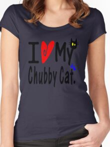 Chubby Cat Women's Fitted Scoop T-Shirt