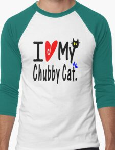 Chubby Cat Men's Baseball ¾ T-Shirt