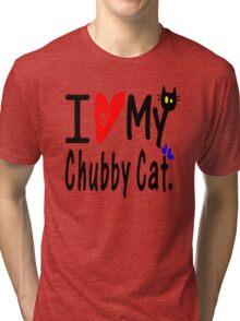 Chubby Cat Tri-blend T-Shirt