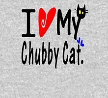 Chubby Cat Mens V-Neck T-Shirt