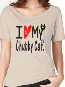 Chubby Cat Women's Relaxed Fit T-Shirt