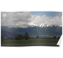 Snow Capped Mountains 02 Poster
